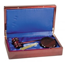 PFDS10A gavel set w/ sounding block