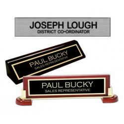 Desk Name PlatesName Plates. - Rosewood,  Black. or Walnut avaliable