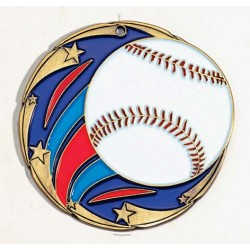 P-37130 Baseball medal  w/neck ribbon $3.95 close out (while supply last)