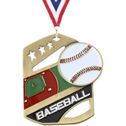 P-30130 Baseball Medal w/ neck ribbon  $3.95 close out (while supply last)